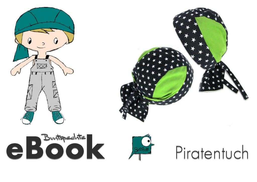 eBook Piratentuch Buntspechte eBooks Schnittmuster Nähanleitungen