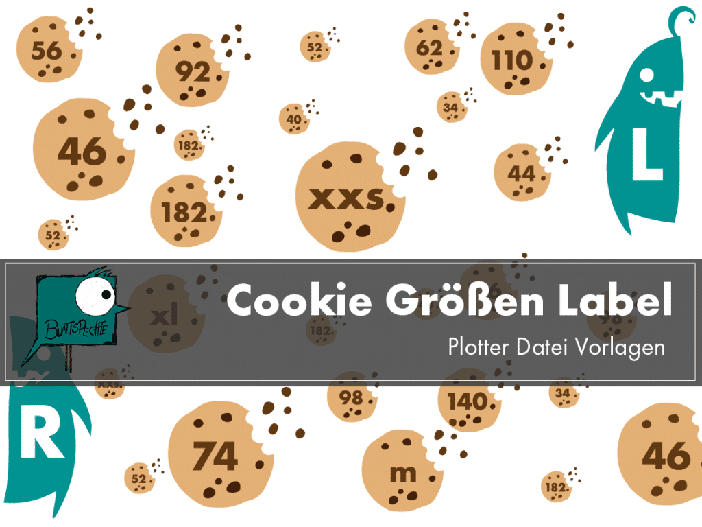 Cookie Größenlabel Plotterdatei