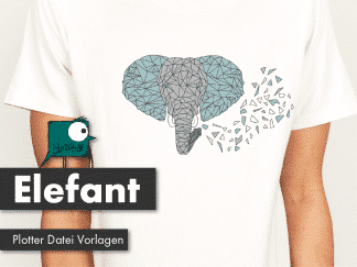 Elefant Polygonzoo